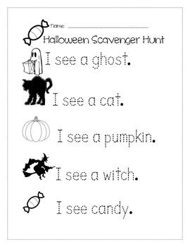 Halloween Hunt for Kindergarten