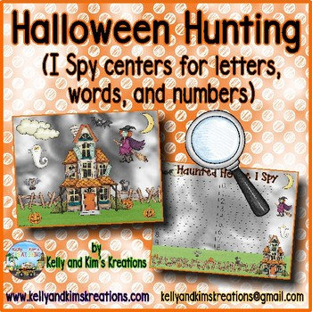 Halloween Hunting {I Spy centers for letters, words, and numbers}