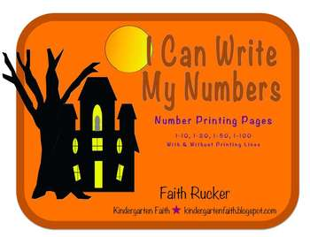 Halloween, I Can Write My Numbers.