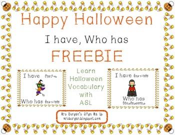 Halloween I Have Who Has FREEBIE