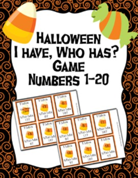 Halloween I Have, Who Has? Number Recognition Game 1-20