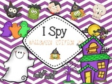 Halloween I SPY Differentiated Sight Word Games