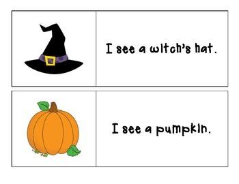 Halloween - I See... Pocket Chart Printable