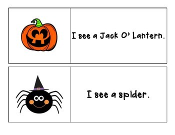 Halloween - I See... Pocket Chart Printable