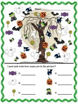 Halloween I Spy - Math - FREE