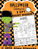 Sight Words | Halloween | I SPY | Coloring Worksheets