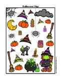 Halloween I Spy Worksheet