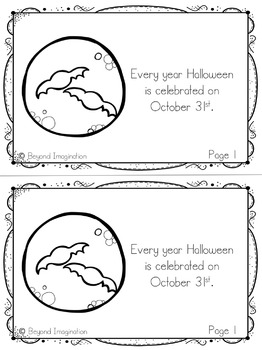 Halloween Booklet | 48 Pages for Differentiated Learning + Bonus Pages