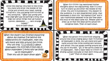 Halloween IB PYP Drama Circle ELA Activity