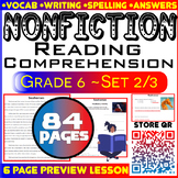 Nonfiction Comprehension | Passages & Questions | Set 2/3