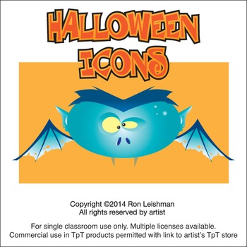 Halloween Icons Cartoon Clipart