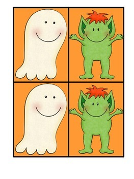 Halloween Idiom Monster Match-Ghosts and Goblins