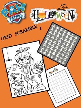 Halloween Image Scramble - 1 - Paw Patrol - Busy / Sub Work