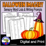 Halloween Writing Word Lists for Using Imagery