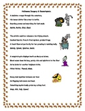 Halloween Imagery Onomatopoeia Writing Activity