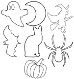 Halloween Images in Black and White Printable