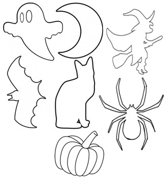 image about Halloween Cutouts Printable known as Halloween Photographs in just Black and White Printable