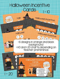 Halloween Incentive Cards