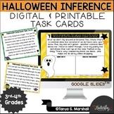 Halloween Inference Digital Task Cards | October Reading C