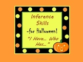 """Halloween Inference Practice with """"I have...Who has...?"""" G"""