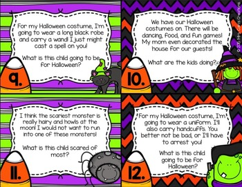 Halloween Inference Task Cards