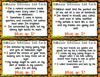 Halloween Inferencing Task Cards