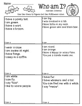 Halloween Inference - Who am I?