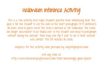 Halloween Inferences! Guess what these kids are dressed as for Halloween!