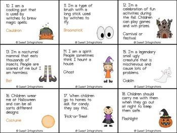 Halloween Inferences - Task Cards and Board Game