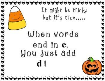 Halloween Inflectional Word Endings Unit