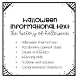Halloween Informational Reading