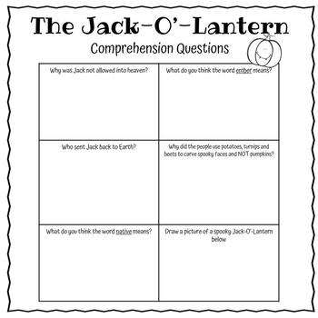Halloween Reading Comprehension-Day of the Dead and Jack-O-Lantern