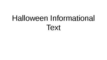 Halloween Informational Text