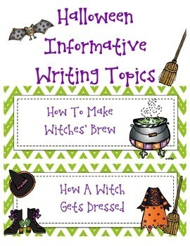 Halloween Informative Writing Common Core Aligned
