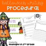 Halloween Procedural Writing