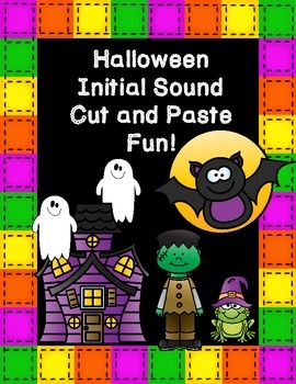 Halloween Initial Sound Cut and Paste Fun