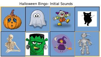 Halloween Initial Sounds Bingo
