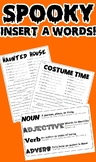 Halloween Insert a Words! (Part of Speech Activity)