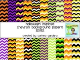 Halloween Inspired Chevron Backgrounds