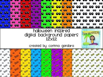 Halloween Inspired Digital Background Papers