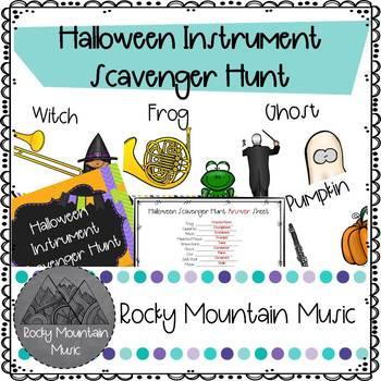 Halloween Instrument Scavenger Hunt