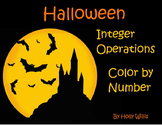 Halloween Integer Operations Color by Number