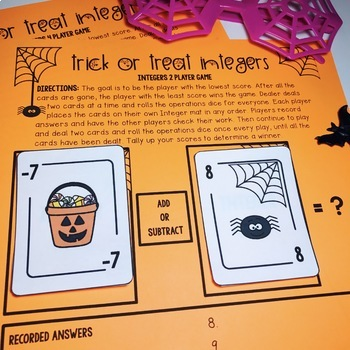 Halloween Integers Game