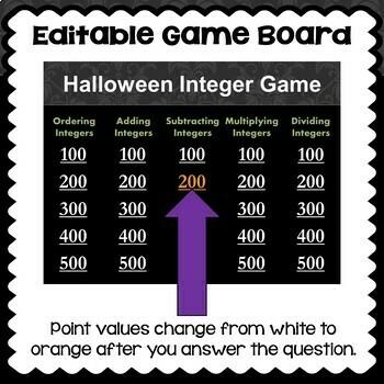 Halloween Integer Game