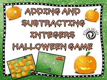 Halloween Integers Activity for Middle Grades Math
