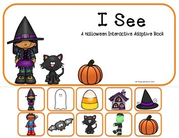 "Halloween Interactive Adaptive books set of 2 (""I See"" and ""How Many?"""