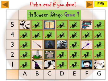 Halloween Interactive Bingo, Snap, Matching Pairs Game