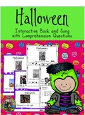 Halloween Activity Reading and Song with Comprehension Questions First Grade