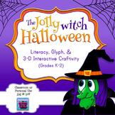 Halloween Witch ELA Interactive Craftivity & Glyph