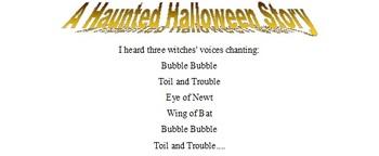 Halloween Interactive Creative Writing Activity